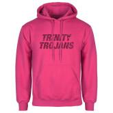 Fuchsia Fleece Hoodie-Trinity Trojans Hot Pink Glitter