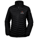Columbia Powder Lite Ladies Black Jacket-Stacked Wordmark