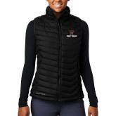 Columbia Lake 22 Ladies Black Vest-Stacked Wordmark