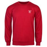 Red Fleece Crew-Primary Mark