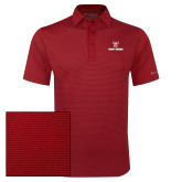 Columbia Red Omni Wick Sunday Golf Polo-Stacked Wordmark