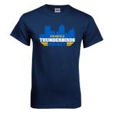 Navy T Shirt-Cityscape