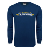 Navy Long Sleeve T Shirt-Word Mark
