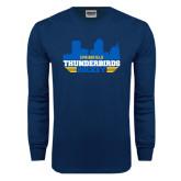 Navy Long Sleeve T Shirt-Cityscape