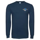 Navy Long Sleeve T Shirt-Thunderbird Head