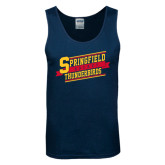 Navy Tank Top-Hockey Banner