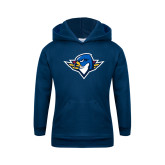 Youth Navy Fleece Hoodie-Thunderbird Head