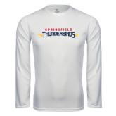 Performance White Longsleeve Shirt-Word Mark