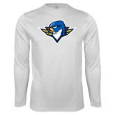 Performance White Longsleeve Shirt-Thunderbird Head