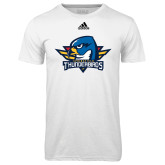 Adidas Climalite White Ultimate Performance Tee-Primary Mark