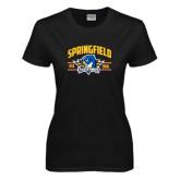 Ladies Black T Shirt-Arched Established Date
