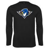 Performance Black Longsleeve Shirt-Thunderbird Head