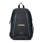 Impulse Black Backpack-Word Mark