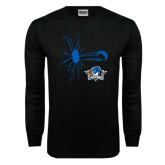 Black Long Sleeve TShirt-Cracked Glass