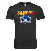 Next Level Vintage Black Tri Blend Crew-Game On