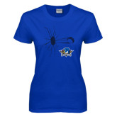 Ladies Royal T Shirt-Cracked Glass