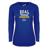 Ladies Syntrel Performance Royal Longsleeve Shirt-Real Women Watch Hockey