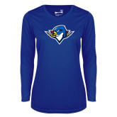 Ladies Syntrel Performance Royal Longsleeve Shirt-Thunderbird Head