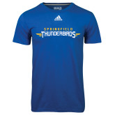 Adidas Climalite Royal Ultimate Performance Tee-Word Mark
