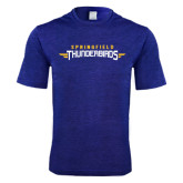 Performance Royal Heather Contender Tee-Word Mark