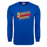 Royal Long Sleeve T Shirt-Hockey Banner