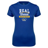 Ladies Syntrel Performance Royal Tee-Real Women Watch Hockey