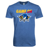 Next Level Vintage Royal Tri Blend Crew-Game On