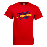 Red T Shirt-Hockey Banner