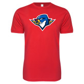 Next Level SoftStyle Red T Shirt-Thunderbird Head