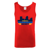 Red Tank Top-Cityscape