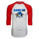 White/Red Raglan Baseball T-Shirt-Game On