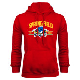 Red Fleece Hoodie-Arched Established Date