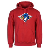 Red Fleece Hoodie-Thunderbird Head