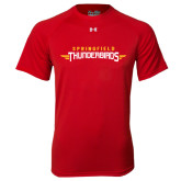 Under Armour Red Tech Tee-Word Mark