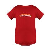 Red Infant Onesie-Word Mark