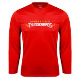 Performance Red Longsleeve Shirt-Word Mark