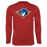 Performance Red Longsleeve Shirt-Thunderbird Head