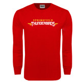 Red Long Sleeve T Shirt-Word Mark