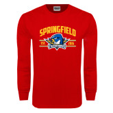 Red Long Sleeve T Shirt-Arched Established Date