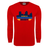 Red Long Sleeve T Shirt-Cityscape