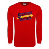 Red Long Sleeve T Shirt-Hockey Banner