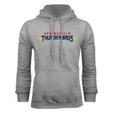 Grey Fleece Hoodie-Word Mark