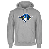 Grey Fleece Hoodie-Thunderbird Head