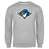 Grey Fleece Crew-Thunderbird Head