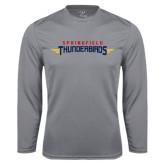 Performance Steel Longsleeve Shirt-Word Mark