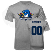 Grey T Shirt-Primary Mark, Boomer