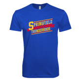 Next Level SoftStyle Royal T Shirt-Hockey Banner