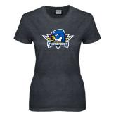 Ladies Dark Heather T Shirt-Primary Mark