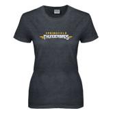 Ladies Dark Heather T Shirt-Word Mark