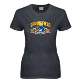 Ladies Dark Heather T Shirt-Arched Established Date